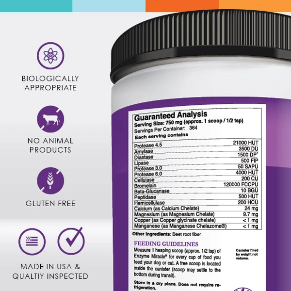 Enzyme Miracle Nutrition Facts